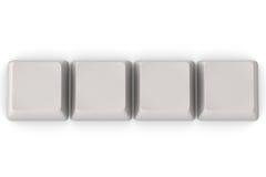 Claves en blanco ilustración del vector