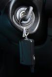 Claves en el bloqueo de ignición Fotografía de archivo
