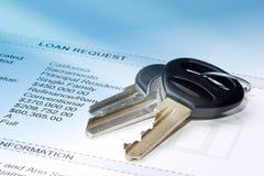 Claves en la petición del préstamo Imagenes de archivo