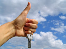 Claves - felicidad Imagen de archivo libre de regalías