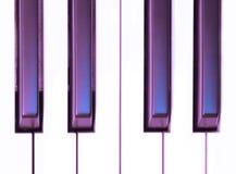 Claves púrpuras Imagen de archivo libre de regalías