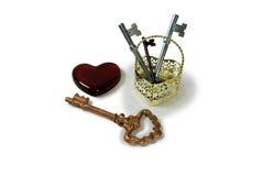 Claves a su corazón Imagen de archivo