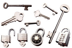 Claves y bloqueos Imagen de archivo libre de regalías