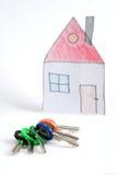 Claves y casa Fotos de archivo libres de regalías