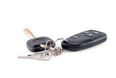 Claves y encanto del coche del sistema de alarma del coche Imagen de archivo libre de regalías