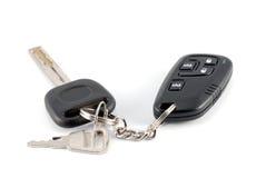 Claves y encanto del coche del sistema de alarma del coche Imagen de archivo