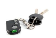 Claves y encanto del coche del sistema de alarma del coche Imágenes de archivo libres de regalías