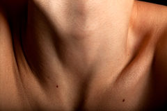 Clavicle collar-bone woman Royalty Free Stock Photography