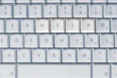 Clavier - aide Photo stock