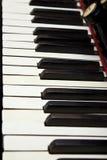 Clavier antique d'organe image stock