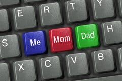 Clavier avec des clés de famille Images stock