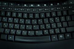 Clavier avec des lettres dans hébreu et anglais Image stock