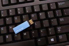 Clavier avec la commande miniature d'USB image libre de droits