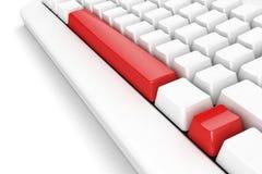 Clavier avec le repère d'exclamation Image stock