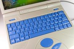 Clavier bleu Photographie stock