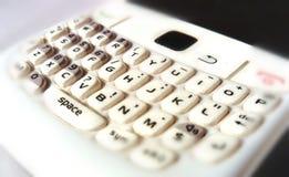 Clavier brouillé de téléphone portable photographie stock