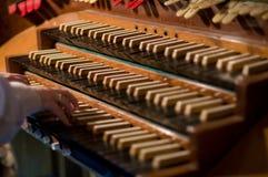Clavier classique et touche d'organe image libre de droits