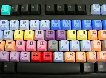Clavier coloré Photo stock