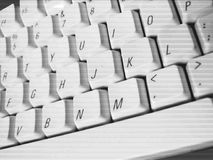 Clavier contrasté Photos stock