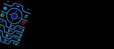 Clavier contre éclairé de portable avec la pièce pour le texte Images libres de droits