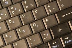 clavier d'Allemand d'ordinateur Photos libres de droits