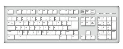 clavier d'illustration d'ordinateur Image stock