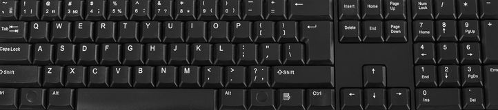 Clavier d'ordinateur Photos stock