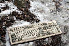 Clavier d'ordinateur abandonné Images stock