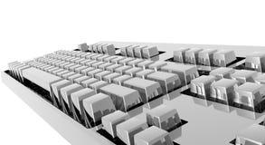 Clavier d'ordinateur argenté Photographie stock libre de droits