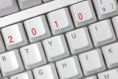 Clavier d'ordinateur avec 2010 clés Images libres de droits