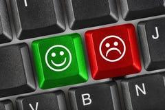 Clavier d'ordinateur avec deux clés de sourire Images libres de droits
