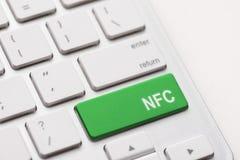 Clavier d'ordinateur avec la technologie de NFC Photo stock