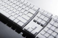 Clavier d'ordinateur blanc photographie stock libre de droits