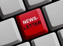 Clavier d'ordinateur : Bulletin d'information image stock