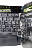 Clavier d'ordinateur cassé Photographie stock