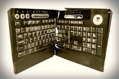 Clavier d'ordinateur cassé Photo stock