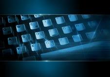 Clavier d'ordinateur dans le bleu 2 Photographie stock libre de droits