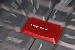 Clavier d'ordinateur dans le mouvement Photos libres de droits