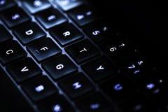 Clavier d'ordinateur dans rétro-éclairé Photo libre de droits