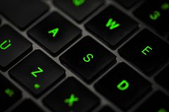 Clavier d'ordinateur dans rétro-éclairé Images libres de droits