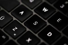 Clavier d'ordinateur dans rétro-éclairé Photographie stock libre de droits