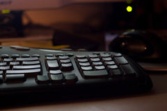 Clavier d'ordinateur noir Photo stock