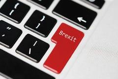Clavier d'ordinateur portable avec le bouton de ` de Brexit de ` Image stock