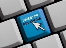 Clavier d'ordinateur : Rapports à l'investissement Image stock
