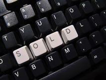 Clavier d'ordinateur vendu images stock