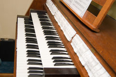 Clavier d'organe images stock