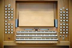 Clavier d'organe photo stock