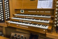 Clavier d'organe de tuyau image libre de droits