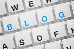 Clavier de blog Photo stock