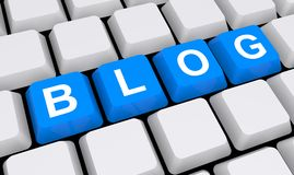 Clavier de blog Images libres de droits